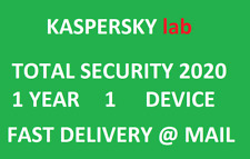 Kaspersky Total Security 2020 1 year/1 device|Global key|Sent @ ebay message