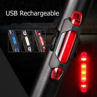 5 LED USB Rechargeable Bike Bicycle Cycling Tail Rear Safety Warning Light HF