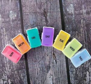 Weekly 7 Day Pill Box Medicine Storage Tablet Container Deattached Organizer