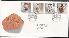 Go 1987 studio pottery FDC bureau Edinburgh poste timbres set