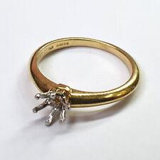 Tiffany diamond ring mount for a 0.50ct brilliant cut diamond
