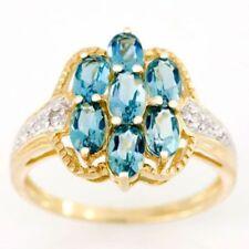 Wedding Topaz Oval Fine Rings