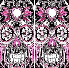 C37 Sugar Skull Cornhole Board Wrap LAMINATED Wraps Decals Vinyl Sticker