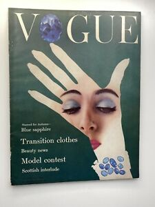 VOGUE Magazine 1954 August COMPLIMENTARY GIFT WRAP Fast dispatch