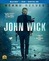 John Wick (Blu-ray/DVD, 2015, 2-Disc Set) Brand New