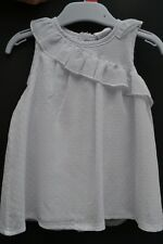 Babyworld Sz 0 white 2 pc set lined dress & bloomer pants BNWT new cotton voile