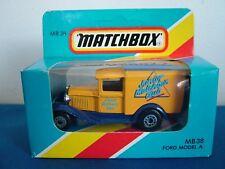 MATCHBOX MB38 - FORD MODEL A VAN - JUNIOR MATCHBOX CLUB 1987 - COMIC DELIVERY