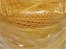 Lizbeth Cordonnet 100% Egyptian Cotton Thread  Size 10 Color 613 Med Gdn Yellow
