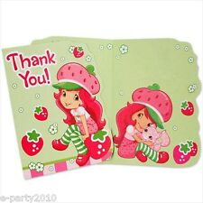 STRAWBERRY SHORTCAKE DOLLS THANK YOU NOTES (8) ~ Birthday Party Supplies Cards