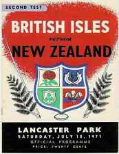 BRITISH LIONS 1971 2nd TEST v NEW ZEALAND RUGBY PROGRAMME