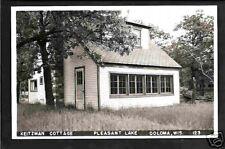 Coloma Wisconsin 40s RPPC Keitzman Cbn Pleasant Lake WI