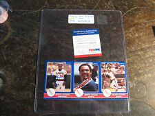 Reggie Jackson Signed 3 Uncut  Star 85' / Psa/ Dna