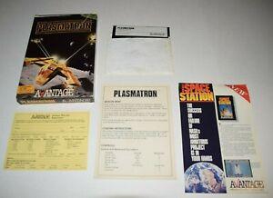 Vintage Commodore 64 / 128 PLASMATRON 5.25 Disc Game W/ Box & Manual