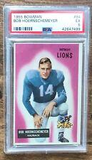 1955 Bowman Football Card #84 Bob Hoernschemeyer Detroit Lions PSA 5 EX