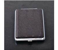 Ultrathin Simple Brown Wavy Lines Portable Cigarette Case(Hold 16 Cigarettes)^