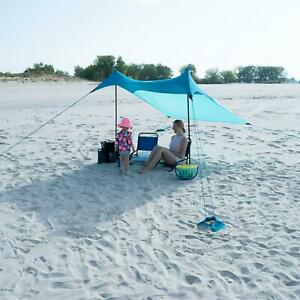 Quick Set 6.8 ft x 6.7 ft Sunshade Beach Tent Outdoor Camping UPF 50+ Protection