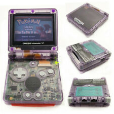 Clear Purple Game Boy Advance SP Console AGS 001 Front light LCD GBA SP Console
