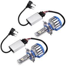 H4 9003 HB2 7000LM Car LED Headlight Bulbs Kit Hi/Lo Beam Halogen 6000K White