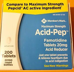 Member's Mark 20mg Acid Pep, FAMOTIDINE Big (200 ct.) bottles EXP 04/2022