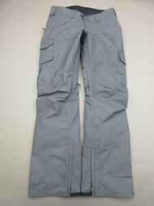 Burton Size XS Womens Gray Athletic Outdoor Cargo Snowboard Ski Pants T133