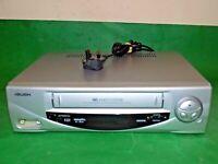 BUSH Video Cassette Recorder VHS Smart VCR Silver VCR916VPSIL FULLY TESTED