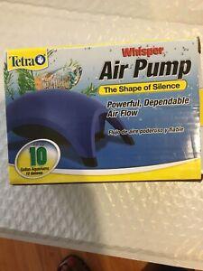 Two Tetra Whisper Air Pump 10 Gallon Aquarium