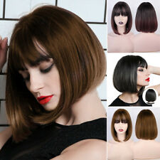 Woman Short Straight Wigs Synthetic Bob Wig Hair Costume Cosplay Decoration 1pcs
