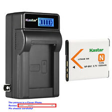 Kastar Battery LCD Wall Charger for Sony NP-BN1 BC-CSN Sony Cyber-shot DSC-W830
