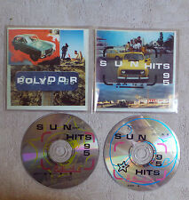 "CD AUDIO INT/SUN HITS 95 2 CD PROMO 1995 POLYDOR ""POLICE/BARRY WHIT/BRYAN ADAMS"""