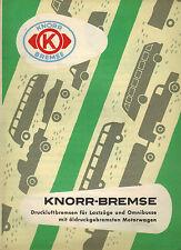 Knorr-Bremse, Druckluft-Bremsen Lastzüge Omnibusse Öldruck-Bremse, Prospekt 1954