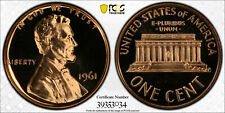 1961 PROOF LINCOLN MEMORIAL CENT 1C PCGS CERTIFIED PR 68 RD CAM UNC - CAMEO (034