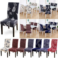 1/4PCS Removable Dining Room Chair Cover Washable Home Decor Stretch SlipCover