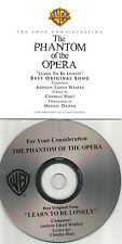 MINNIE DRIVER Phantom of the Opera FOR YOUR CONSIDERATION PROMO CD Single Oscars