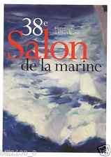 carte postale publicitaire . 38 é salon de la Marine . Paris .