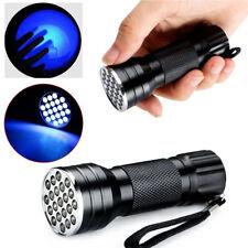 21 LED UV Torch Mini Flashlight Ultra Violet Blacklight 3 AAA Light Stun Gun New