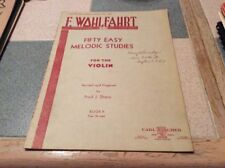 F. Wohlfahrt Fifty Easy Melodic Studies for The Violin Fred Sharp Book Ii