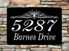 """Personalized Home Address Sign Aluminum 12"""" x 8"""" Custom House Number Plaque sq14"""