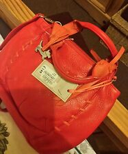 RADLEY LONDON LEATHER RED CHESTER & SILVER RADLEY DOG RRP 149 **