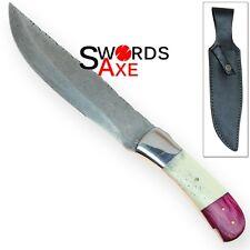Rebel Wolf Cobra Bandit Damascus Forged Steel Trail Knife
