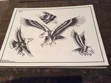 Vintage Spaulding & Rogers tattoo design flash 1983, 53 sheets.