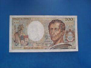 200   FRANCS  MONTESQUIEU 1987   R 045