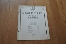 Marconiphone Model 562  6 Valve Superhet Battery Portable Genuine Manual