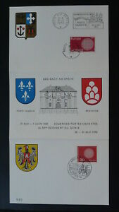 french military forces in Germany x2 FDC card joint issue Europa Cept 1970