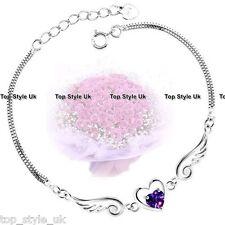 925 Sterling Silver Angel Wings Bracelet Gifts for Daughter Niece Friends J413