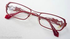 4me romantische Damen Brille Metall Gestell rot pink Designbügel size M