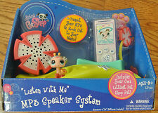 "NIB Hasbro Littlest Pet Shop ""Listen With Me"" MP3 Speaker System with Pet 2010"