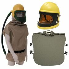 AIR FED Safety Sandblast Helmet Sand Blast Hood Protector Mask Clothing & Pipe