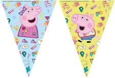 PEPPA PIG BANNER TRIANGLE FLAG BUNTING BIRTHDAY PARTY DECORATIONS