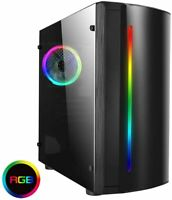 CIT Beam RGB mATX PC case with Aerocool 600w modular Power supply 80 silver PSU