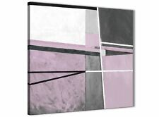 Lilac Grey Painting Abstract Bedroom Canvas Pictures Decor 1s395l - 79cm